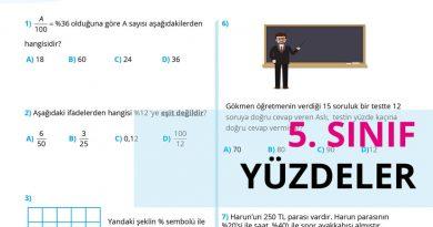 5. Sınıf Yüzdeler