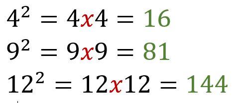bir sayının karesi